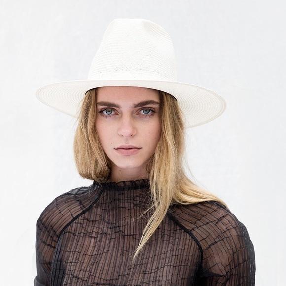 8fbf1effa17c3 Janessa Leone Alexander straw fedora hat large 298